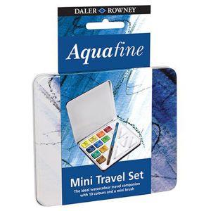 Daler Rowney Boite Metal Aquafine - 10 Demi Godets