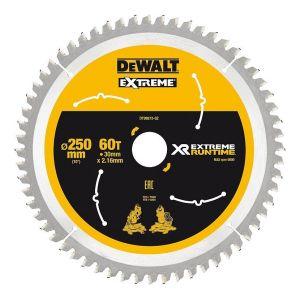 Dewalt Lame de scie circulaire, DT99573 XR Extreme Runtime 60Z 250/30 mm - BANYO