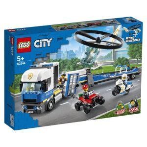 Lego City - Le transport de l'hélicoptère de la police, Jouet de Construction Enfant 5 Ans Et Plus, 317 Pièces - 60244