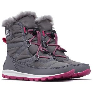 Sorel Chaussures après-ski Youth Whitney Short Lace - Quarry / Ultra Pink - Taille EU 34