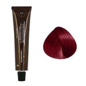 Kin Cosmetics Coloration permanente sans ammoniaque aux 5 huiles 6.67 : Blond Foncé Rouge Violet Sans ammoniaque, Crème 60ml