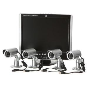 Elro DVR151S - Kit de vidéosurveillance avec 4 cameras et enregistreur