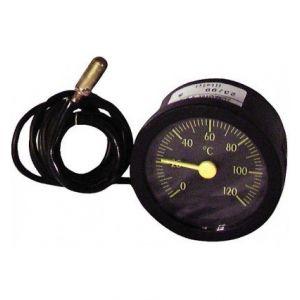 Thermomètre rond - 0° à +120°C diamètre 58mm cap 900gainé