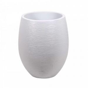 Eda Plastiques Pot plastique diam. 50 x H.60 cm blanc cérusé