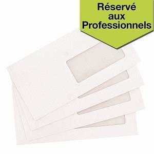 Budget Enveloppes DL 110 x 220 mm 80g fermeture bande adhésive avec fenêtre 35 - Boite de 50
