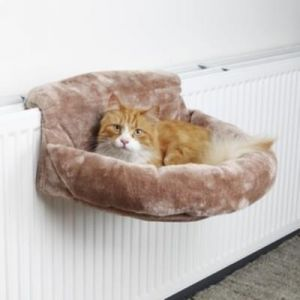 Trixie Sac Confort Pour Radiateurs, Peluche, 46 × 11 × 33 Cm, Brun - 43142