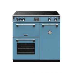 Stoves PRICHDX90EIBLA - Richmond Deluxe 90 cm Induction Bleu Azur - Piano de cuisson