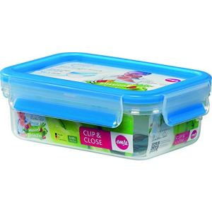 Emsa Boîte alimentaire rectanglaire Clip and Close (0,55 L)