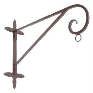 Potence en fer forgé pour lanterne à suspendre Rustique Pour mur d'angle