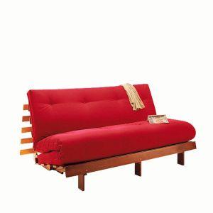 Matelas futon Latex pour banquette THAÏ Rouge Taille 90x190 cm;140x190 cm;160x200 cm