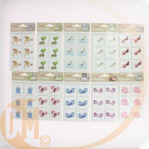 Clairefontaine 35837C - 6 embellissements adhésifs : Chaussons garçon (300 g/m², 4 x 4 cm)