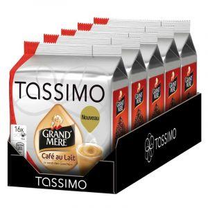 Tassimo 5 paquets de 16 T-Discs Grand'Mère Café au lait