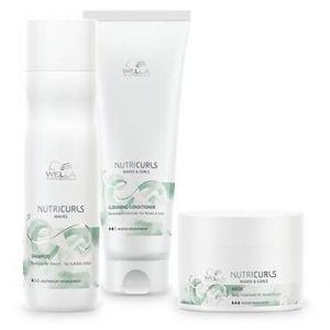 Wella Pack Nutricurls Cheveux Ondulés - Shampooing + Conditionneur Lavant + Masque