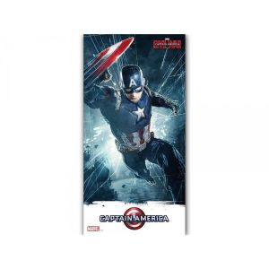 SD Toys Poster en verre Marvel Civil War Captain America (30 x 60 cm)