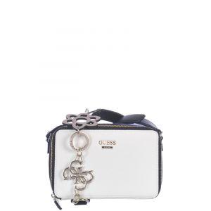Guess Bags Hobo, Sacs bandoulière femme, Multicolore (White Multi), 6.5x12x18.5 cm (W x H L)