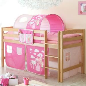 ticca lit mezzanine timmy r princesse en h tre 90 x 200 cm comparer avec. Black Bedroom Furniture Sets. Home Design Ideas