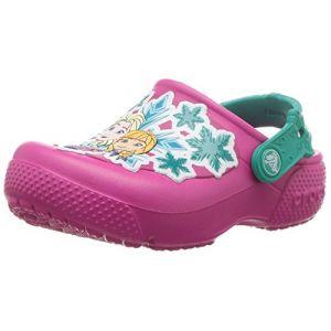 Crocs Fun Lab Frozen Clog Kids, Sabots Fille, Rose (Candy Pink), 25-26 EU
