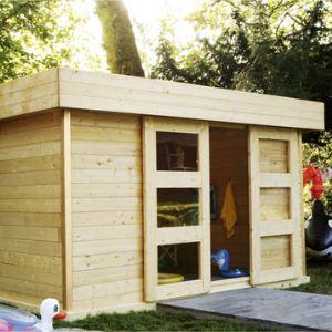 Solid S8213 - Abri de jardin Malmö en bois 28 mm 11,40 m2