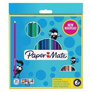 Paper Mate 24 crayons de couleurs triangulaires