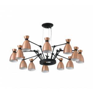 Faro 20047 - Suspension Retro-Cuivre-12 Lampes X E14 20W