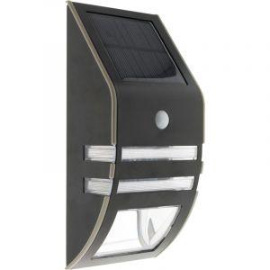 Elexity Applique solaire Led à détecteur de mouvement noir 50 lm