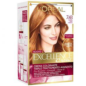 L'Oréal Excellence - Crema Colorante Triplo Trattamento Avanzato - 7.43 Biondo Ramato Dorato