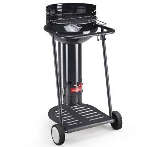 Barbecook 223.4305.900 Optima Black Go - Barbecue colonne à charbon sur roulettes