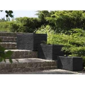 Beliani Jardinière noire 50 x 23 x 24 cm Myra