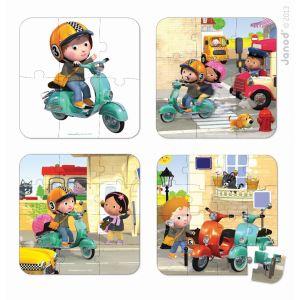 Janod Puzzle valisette : Le scooter de Walter
