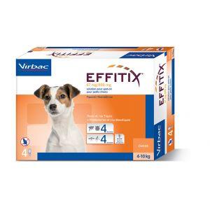 Virbac Effitix Spot On petit chien 4-10 kg 4 pipettes