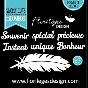 Florilèges Design Matrice de découpe Die Sweety Cuts - La plume - 7 pcs