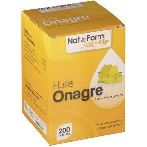 Nat & Form Huile d'onagre - Complément alimentaire 200 comprimés