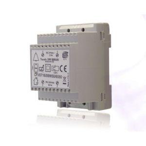 Extel Transformateur modulaire 230 VAC 8 VAC 1 0 A rail DIN pour les carillons filaires WE 362 B BIS 203991