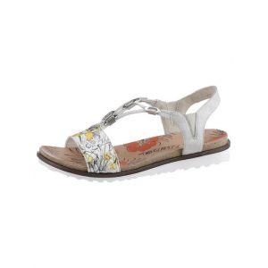 Rieker V0753-90, Sandales Bout fermé Femme, Multicolore (Ice-Multi/White-Silver 90), 39 EU