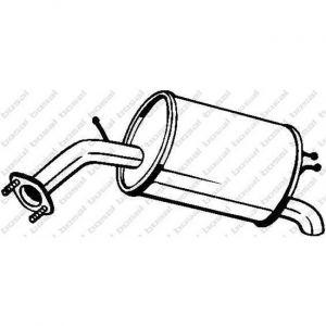 Bosal Silencieux arrière 128-007