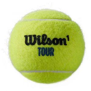 Wilson Balles de Tennis, Tour Premier, Boîte de 4, pour tous les Revêtements, Jaune, WRT119400