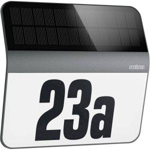 Steinel Luminaire extérieur XSolar LH-N anthracite - numéro de maison éclairé sans courant - applique solaire LED