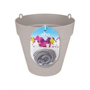 Loft URBAN Pot de fleur à suspendre - Ø20 cm - Gris chaud - Réservoir d'eau - Balustrades jusqu'à 6 cm de large - Charge maximale 4 kg - Recyclables - Résistant au gel