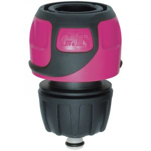 G.F. GF - Raccord rapide Soft Touch Aquastop tuyau Ø 16 à 19 mm - Rose