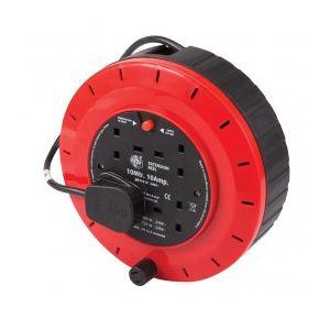 Silverline 619747 - Enrouleur dévidoir de câble 240V prise anglaise 10A 10m