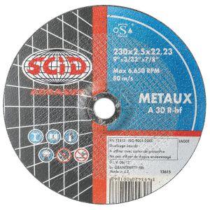 SCID 0185 - Disques à tronçonner Métaux 125 mm Alésage 3,2 mm