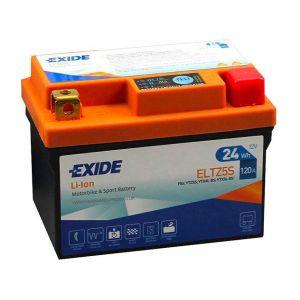 Exide Batterie moto YTZ5S Lithium Li-ion 12V 2AH 120A ELTZ5S YTX4L-BS YTX5L-BS