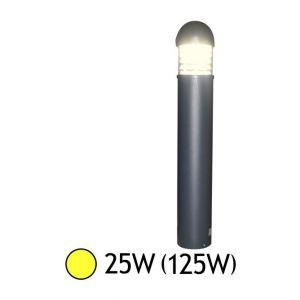 Vision-El POTELET PARALUME TRANS 230 V 25W GRIS 3000°K 100 X 16,5 CM IP65 ROND