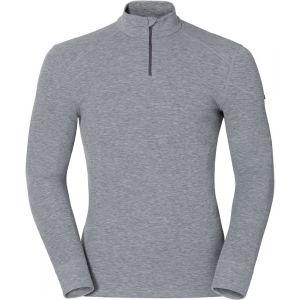 Odlo Originals Warm T-Shirt chaud col zipp manches longues homme Grey Melange Taille Fabricant : XL