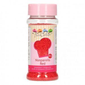 FunCakes Mini perles en sucre rouges