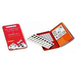 Oberthur 2 Jeux Magnétiques pour Voyage : TIC TAC Toe et Morpion - 18,5 x 10,3 x 1,1 cm