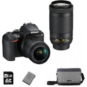 Nikon Appareil photo Reflex D3500+18-55VR+70-300vr+FT+16GO+2eme Batt