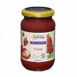 Saveurs attitudes Préparation à la fraise bio 310g