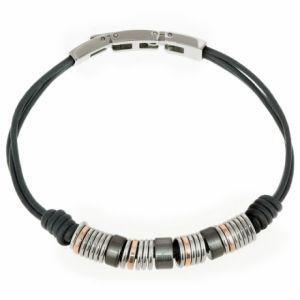 Fossil JF01654998 - Bracelet cordon en cuir pour homme
