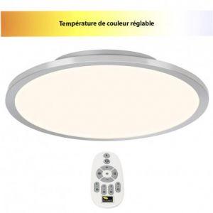 Brilliant AG Dalle LED 46 W blanc chaud, blanc neutre, blanc lumière du jour Smooth G20883/13 fer